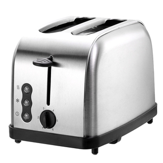 2-Slice Toaster Stainless Steel Toaster with 6 Bread Shade Setting Wide Slot