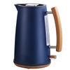 Electric Kettle 1.7L Stainless Steel Water Kettle Nordic Style Water Boiler with Wood Effected Handle