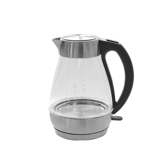 Electric Kettle 1.7L Glass Water Kettle Cordless Electric Teapot with LED Belt