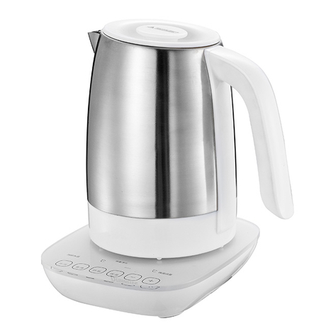 Electric Kettle 1.0L Electric Milk Modulator Stainless Steel Water Kettle Multy-Use Cordless Digital Kettle